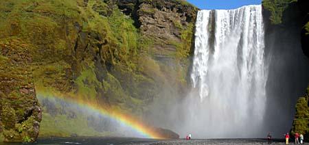 Skógafoss Island Fotoreise Wasserfall
